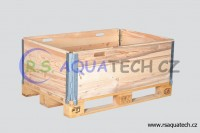 collapsible pallet collar with handels